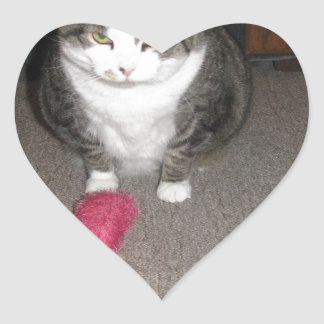 気難しい脂肪質猫は楽しみません ハートシール