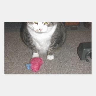 気難しい脂肪質猫は楽しみません 長方形シール