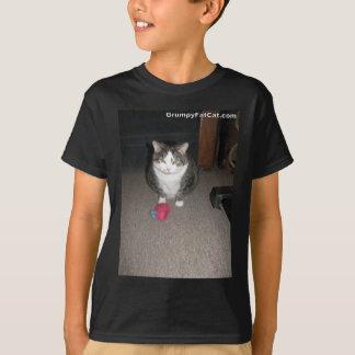 気難しい脂肪質猫は楽しみません Tシャツ