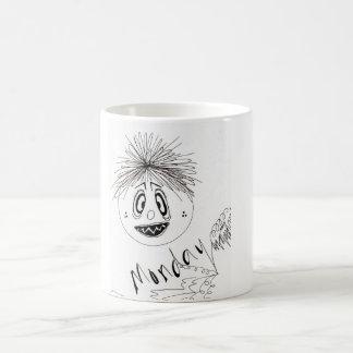 気難しい顔-月曜日のマグ コーヒーマグカップ