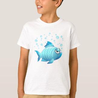 気難しい魚の漫画 Tシャツ