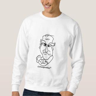 気難し屋のスエットシャツ-白 スウェットシャツ