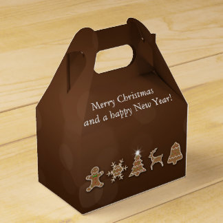 気高いクリスマスのジンジャーブレッド-好意箱の切り妻 フェイバーボックス