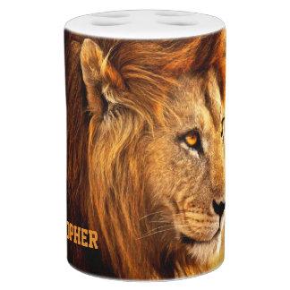 気高いライオンの写真 バスセット