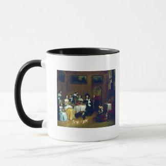 気高い家族の食事 マグカップ