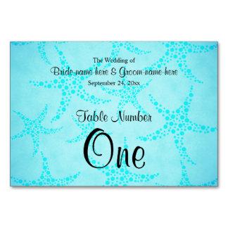 水およびターコイズのヒトデの結婚式 カード