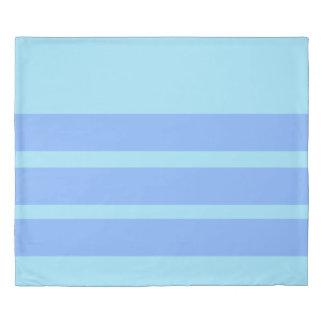 水および淡いブルーのストライプのな羽毛布団カバー 掛け布団カバー