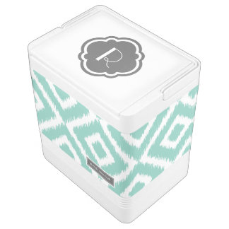 水および灰色のイカットのダイヤモンドのモノグラム IGLOOクーラーボックス