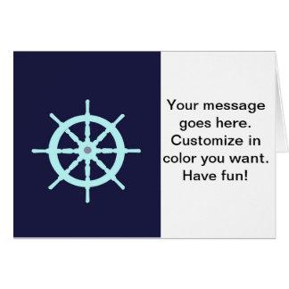 水および灰色の船の車輪 カード