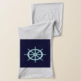 水および灰色の船の車輪 スカーフ