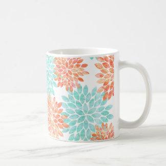 水および珊瑚の花 コーヒーマグカップ