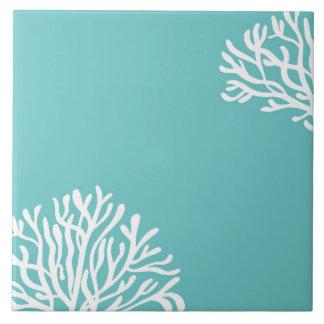 水および白い珊瑚 タイル