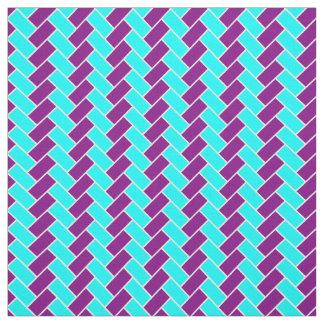 水および紫色のヘリンボン ファブリック
