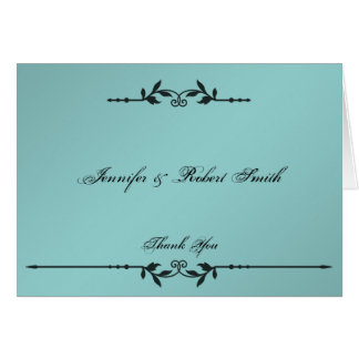 水および黒のエレガントな結婚式は感謝していしています カード