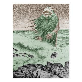 水から出ているモンスター ポストカード