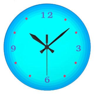 水か緑の紫系統>台所時計 ラージ壁時計