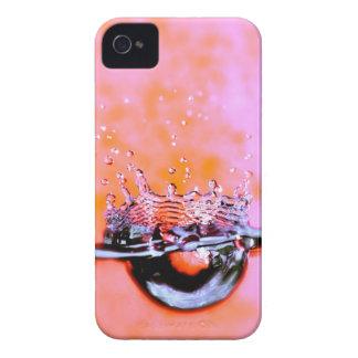 水しぶきのブラックベリーのはっきりしたな箱 Case-Mate iPhone 4 ケース