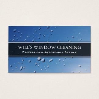 水しぶき、青いウィンドウ・クリーナ-名刺 名刺