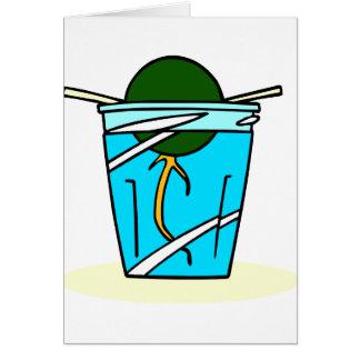 水で育つavacadoの抽象的なピット カード