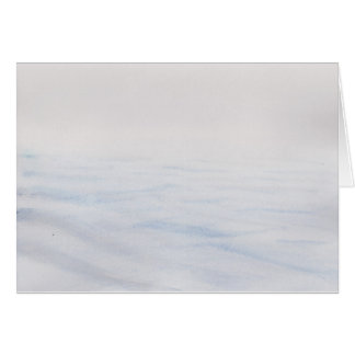 水にさざ波の水彩画 カード