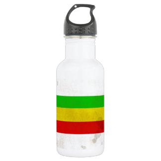 水によって汚されるラスタは縞で飾ります ウォーターボトル