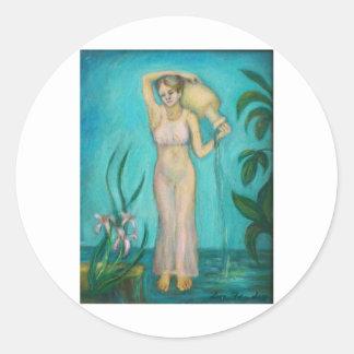 水によるLillyを持つアクエリアスの女神 ラウンドシール