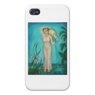水によるLillyを持つアクエリアスの女神 iPhone 4/4S Case