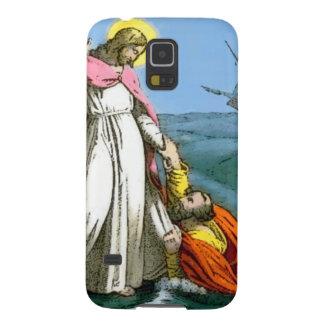 水にイエス・キリストの歩く GALAXY S5 ケース