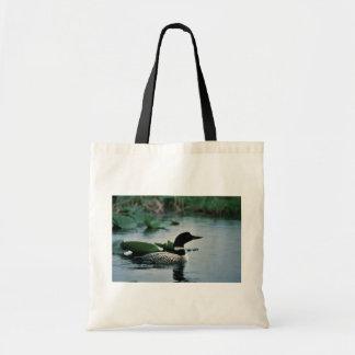 水に共通の水潜り鳥 トートバッグ