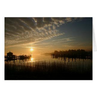 水に日の出 カード