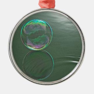 水に浮かぶ泡 メタルオーナメント