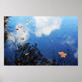 水に葉 ポスター