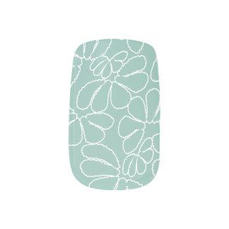 水のお洒落なイカットの花の花弁の落書きパターン ネイルアート