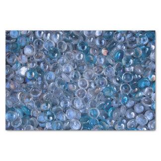 水のゆとりそして青によって染められるガラス大理石 薄葉紙