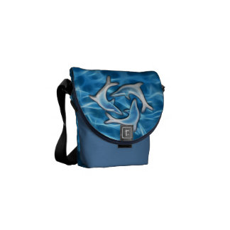 水のイルカ メッセンジャーバッグ
