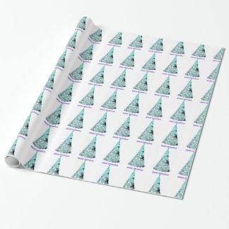水のクリスマスツリーの包装紙 ラッピングペーパー