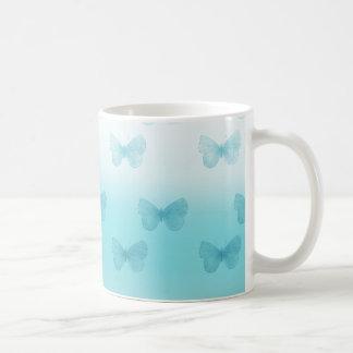 水のグラデーションな蝶 コーヒーマグカップ