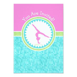 水のタイルとの三パステル調色の体操 カード