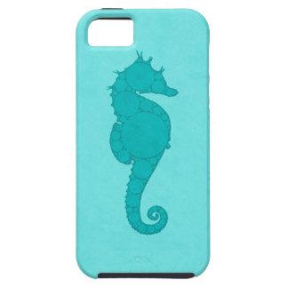 水のタツノオトシゴのモザイク iPhone SE/5/5s ケース