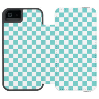 水のチェッカーボードパターン INCIPIO WATSON™ iPhone 5 財布 ケース