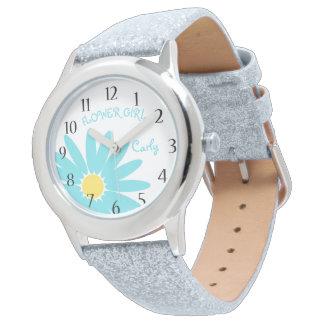 水のデイジーのフラワー・ガール 腕時計