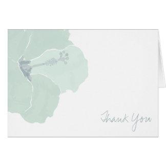 水のハイビスカスの花の熱帯は感謝していしています カード