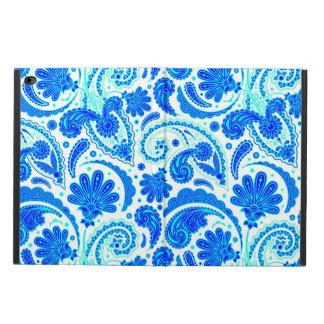水のペーズリーかわいく青いパターン POWIS iPad AIR 2 ケース