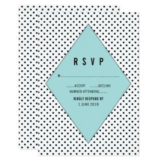 水のモダンな水玉模様RSVP カード