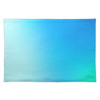水の勾配への青 プレースマット