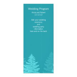 水の小ぎれいな木の冬の結婚式プログラムプログラム・カード 10.2 X 23.5 インビテーションカード