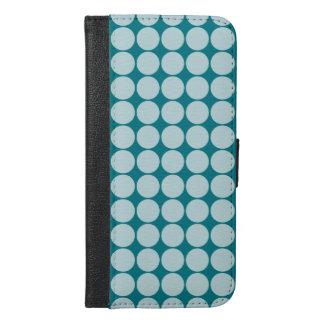 水の水玉模様 iPhone 6/6S PLUS ウォレットケース