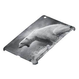水の氷の白い白くまのハンター iPad MINI カバー