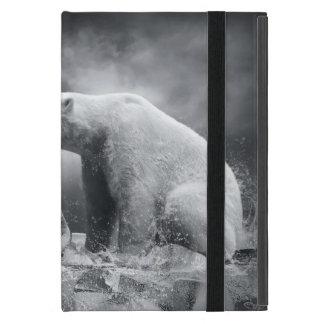 水の氷の白い白くまのハンター iPad MINI ケース