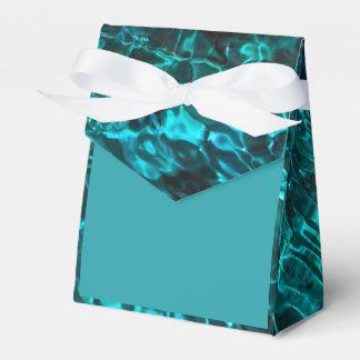 水の海兵隊員パターンが付いている青いティール(緑がかった色)の好意箱 フェイバーボックス